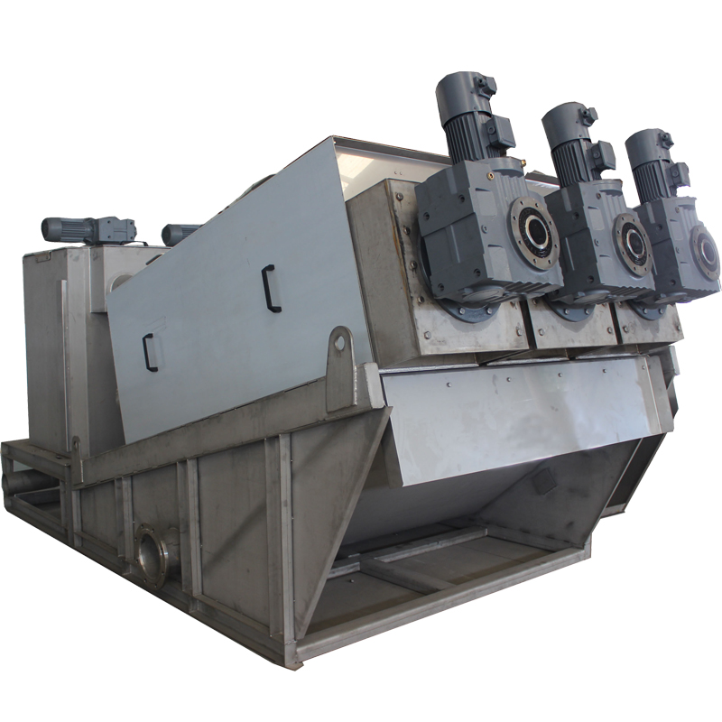 Screw press sludge dewatering